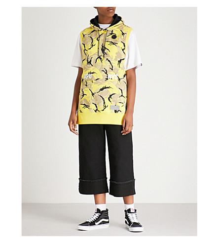 AAPE Camouflage-print cotton-blend sweatshirt (Yellow