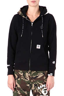 AAPE I.T mixed-print zip-up hoody