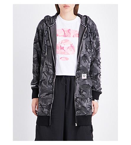 AAPE Camouflage-print jersey hoody (Black+camo