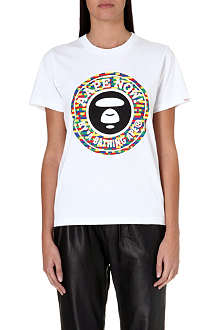 AAPE I.T colourful moon face t-shirt