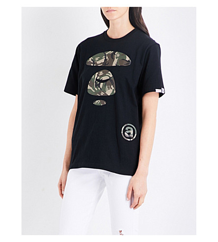 AAPE Moonface Camo cotton-jersey T-shirt (Bkx