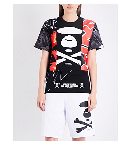 AAPE Neo Rock cotton-jersey T-shirt (Bkx