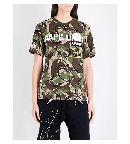 AAPE Camo-print cotton-jersey T-shirt (Grz