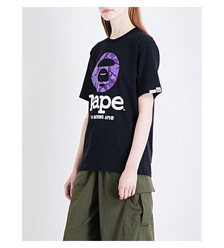 AAPE Moonface cotton T-shirt (Bkx