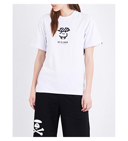 AAPE Logo cotton-jersey T-shirt (White