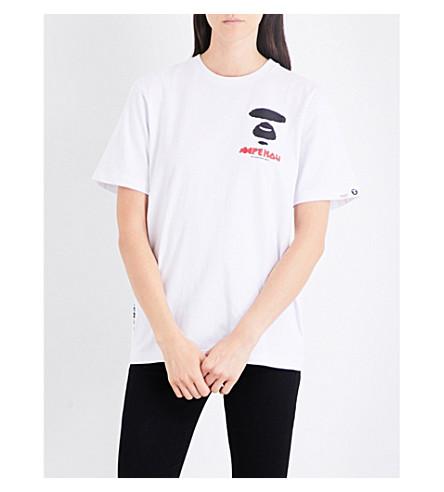 AAPE Neo Rock cotton-jersey T-shirt (Whx