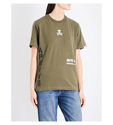 AAPE Logo-print cotton-jersey T-shirt (Khx