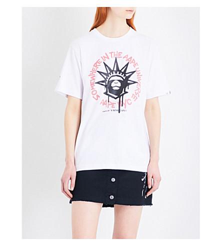 AAPE NYC logo-print cotton-jersey T-shirt (Whx
