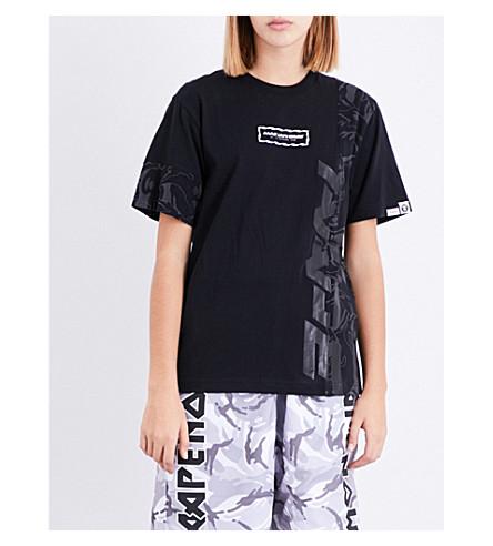 AAPE Cyber Punk cotton-jersey T-shirt (Bkx
