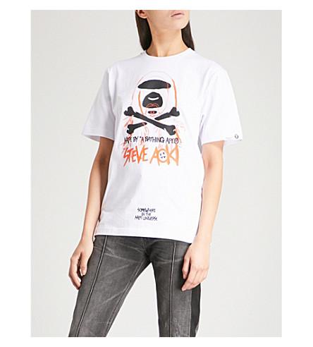 AAPE AAPE x Steve Aoki cotton-jersey T-shirt (White
