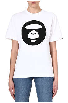 AAPE I.T Moon Face logo t-shirt