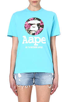 AAPE I.T Hawaiian camouflage-stamp t-shirt