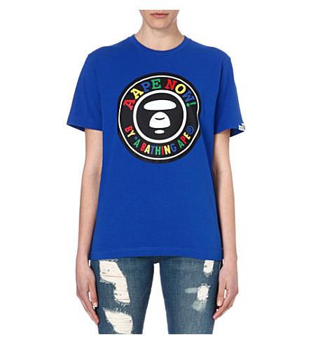 AAPE I.T logo-print t-shirt (Blue