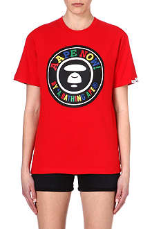 AAPE I.T multi-coloured logo t-shirt