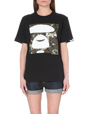 AAPE Branded cotton-jersey t-shirt