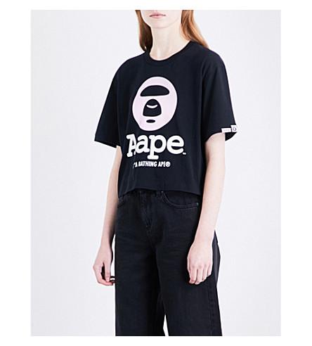 AAPE Foil logo-print cotton-jersey T-shirt (Black