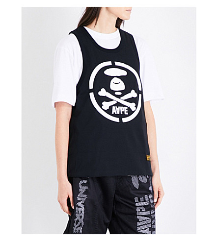 AAPE Reversible sports-mesh top (Bkx