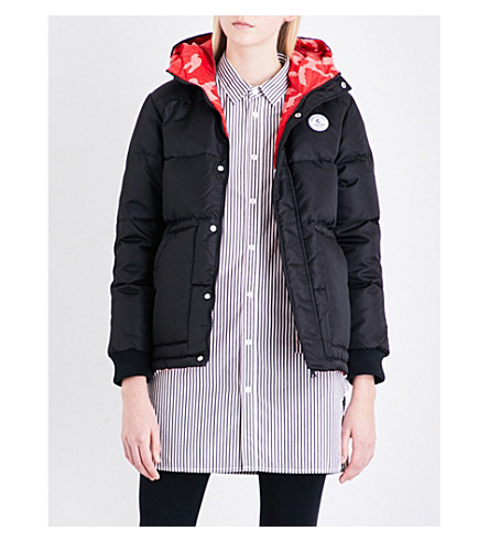 CHOCOOLATE Reversible hooded shell-down puffer jacket (Black