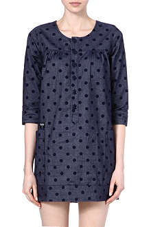 CHOCOOLATE I.T polka dot tunic dress