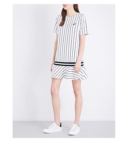 CHOCOOLATE Striped jersey dress (White