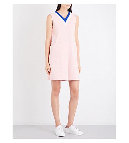 CHOCOOLATE V-neck crepe and jersey mini dress (Pkl