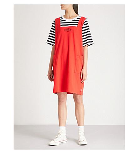 CHOCOOLATE Layered cotton-jersey dress (Red