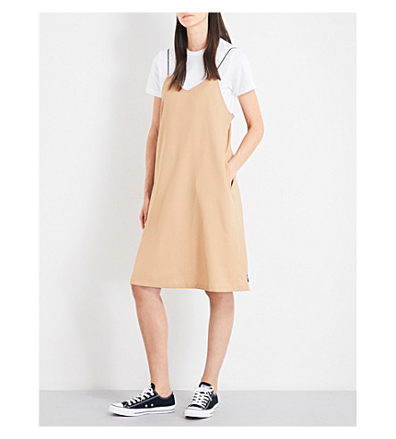 CHOCOOLATE Short-sleeved crepe and cotton-jersey dress (Bgd