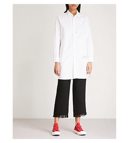 CHOCOOLATE Printed cotton-poplin shirt dress (White