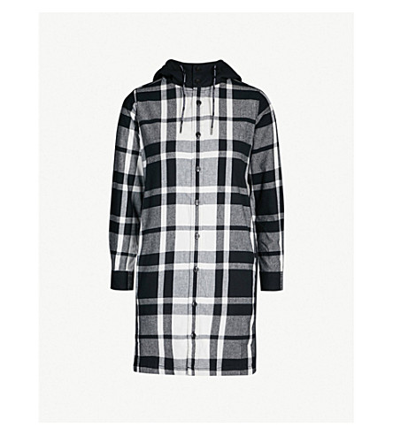 CHOCOOLATE Checked hooded cotton-blend dress (Multi