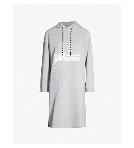 CHOCOOLATE Logo-print cotton-jersey hoody (Grey