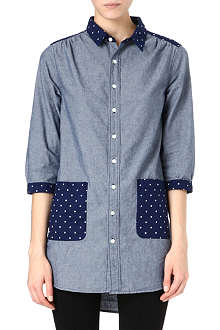 CHOCOOLATE I.T star-print chambray shirt