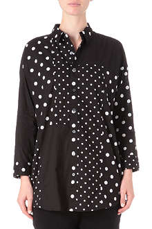 CHOCOOLATE I.T mixed polka dot shirt