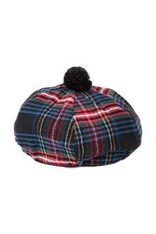 CHOCOOLATE I.T check flannel beret