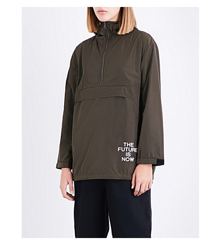 CHOCOOLATE Hooded shell jacket (Khaki