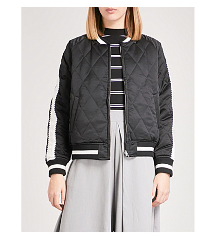 CHOCOOLATE Reversible quilted bomber jacket (Black
