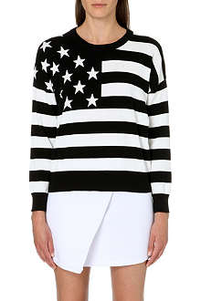 CHOCOOLATE I.T Flag-print jersey sweatshirt