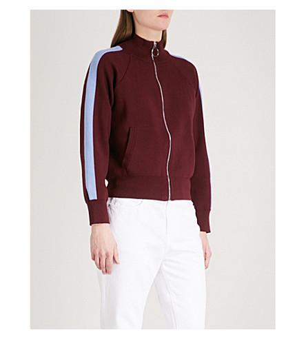 CHOCOOLATE Side-stripe knitted jacket (Multi