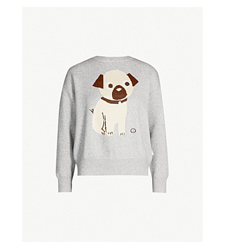 CHOCOOLATE Pug knitted jumper (Grey