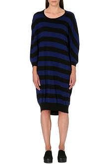 CHOCOOLATE I.T Striped cotton midi dress