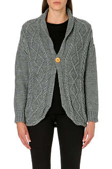 CHOCOOLATE I.T Long-sleeved cable-knit cardigan