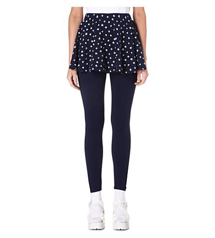 CHOCOOLATE I.T. leggings with star print skirt (Navy