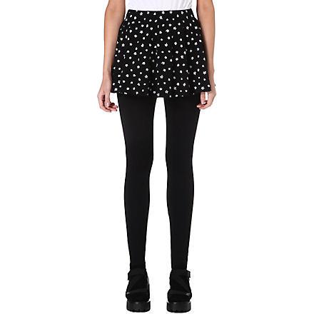 CHOCOOLATE I.T. leggings with star print skirt (Black