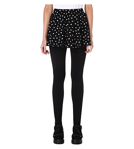 CHOCOOLATE I.T. leggings with star print skirt (Black