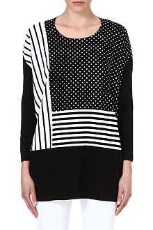 CHOCOOLATE Polka dot stripe top