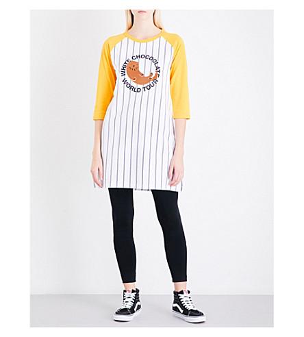 CHOCOOLATE 插套条纹棉衫连衣裙 (多
