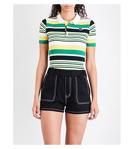 CHOCOOLATE Striped knitted polo shirt (Yex