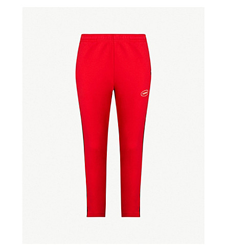CHOCOOLATE Stripe cotton-blend jogging bottoms (Red