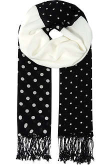 CHOCOOLATE Polka dot scarf