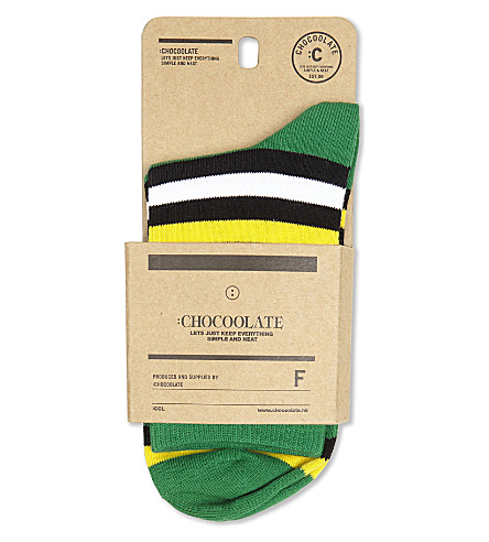 CHOCOOLATE Striped cotton socks (Grx