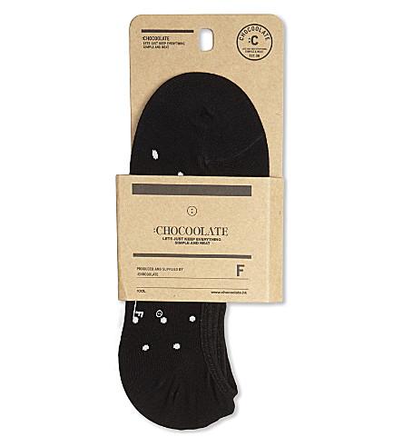 CHOCOOLATE Polka dot cotton trainer socks (Bkx